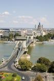 réseau de Budapest de passerelle Images libres de droits