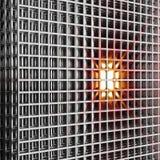 Réseau de câble de l'espace obtenant chaud Image stock