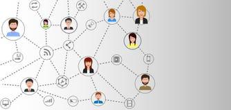 Réseau de connexion de communication d'affaires globales illustration de vecteur