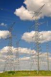 Réseau de courant électrique   Images stock