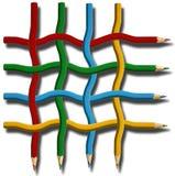 Réseau de crayon Photographie stock libre de droits
