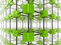 Réseau de cube illustration libre de droits