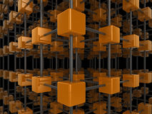 réseau de cube Photo libre de droits