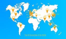 Réseau de devise du monde Photos stock