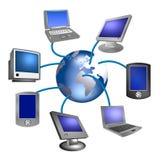 Réseau de dispositif d'Internet Images stock