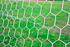 Réseau de but du football Photo stock