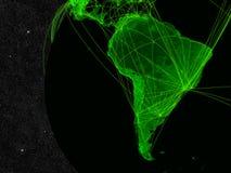 Réseau de l'Amérique du Sud illustration stock