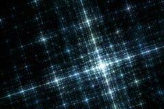 Réseau de lumières bleues de ville à l'image de fractale de nuit illustration stock