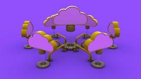 Réseau de nuage Photo libre de droits