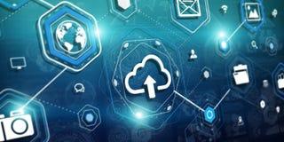 réseau de nuage du rendu 3d Photos stock