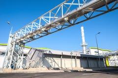 Réseau de pipe-lines de traitement de rebut pour le gaz résiduel de traitement photographie stock