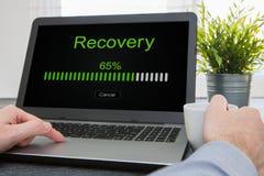 Réseau de plan de lecture rapide de restauration de récupération de restauration de sauvegarde des données Photos libres de droits