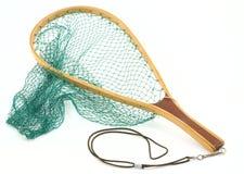 Réseau de poissons de truite Image stock