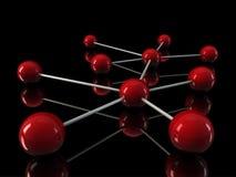 réseau de rouge de chrome 3d illustration stock