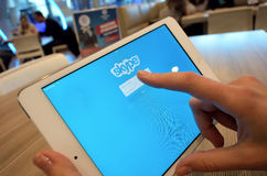 Réseau de Skype Photographie stock