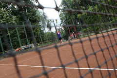 Réseau de tennis Images stock