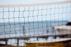 Réseau de Volleybal sur la plage Images libres de droits