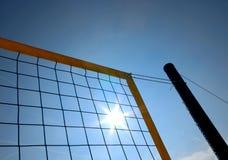 Réseau de volleyball Photos stock