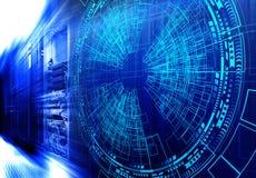 Réseau de Web et technologie de télécommunications modernes d'Internet, entreprise de services de calcul d'ordinateur de grand nu illustration libre de droits