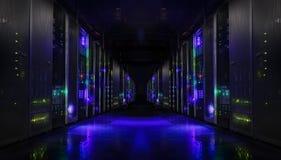 Réseau de Web et technologie de télécommunications moderne d'Internet, grand stockage de données et conce de calcul d'entreprise  photos libres de droits