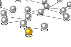 réseau des connexions 3d Photo libre de droits