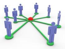 réseau des gens 3d Photos libres de droits