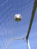 Réseau du football avec la bille images libres de droits