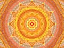 Réseau du soleil de fractale Photo stock
