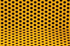 Réseau en acier jaune Photos libres de droits