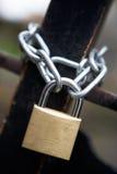Réseau et cadenas Image stock