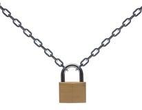 Réseau et cadenas en métal Image libre de droits