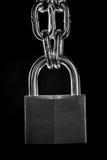 Réseau et cadenas en métal Photos stock