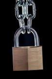 Réseau et cadenas en métal Photo libre de droits