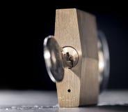Réseau et cadenas en métal Photographie stock