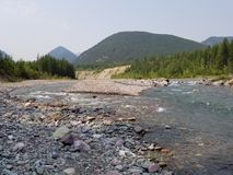 Réseau fluvial à tête plate Photos stock