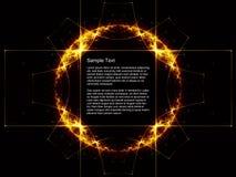 Réseau géométrique abstrait de l'espace illustration libre de droits