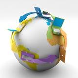 Réseau global Image stock