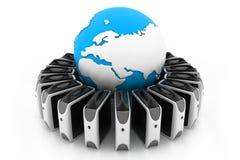 Réseau global de serveur illustration stock