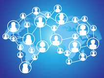 Réseau global de social de technologie Image stock
