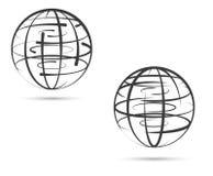 Réseau global de terre sur le fond blanc Photographie stock libre de droits