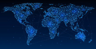 Réseau global et communications Images libres de droits