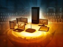 Réseau informatique Images libres de droits