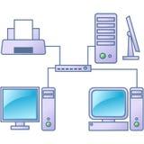 Réseau informatique Photographie stock libre de droits