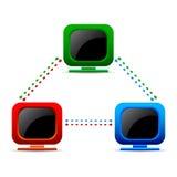 Réseau informatique Image stock