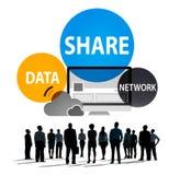Réseau informatique de part partageant le concept social de connexion réseau Images libres de droits