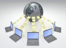 Réseau informatique global illustration libre de droits