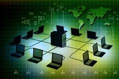 Réseau informatique global illustration de vecteur
