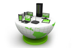 Réseau informatique global Photographie stock libre de droits