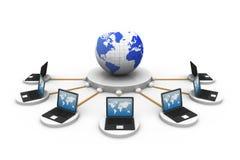 Réseau informatique global Photo libre de droits