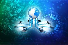 Réseau informatique global, concept global de communication d'Internet rendu 3d Photographie stock